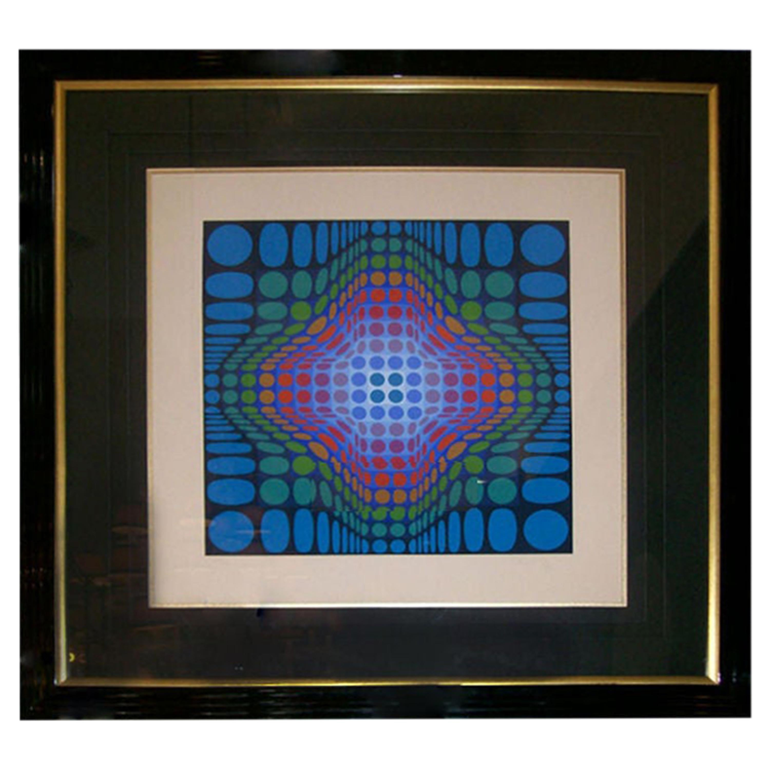 Victor Vasarely Signed and Numbered Silk Screen Lithograph