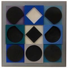 "Victor Vasarely ""Topaze Noire Positif"""