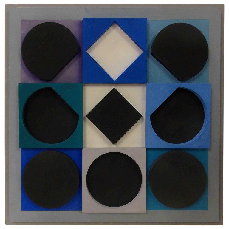 "Victor Vasarely ""Topaze Noire Positif"" For Sale"