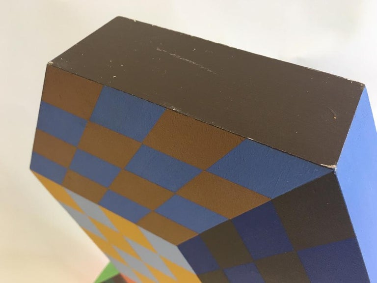French Victor Vasarely Tridim-Rv Sculpture For Sale