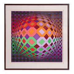 Victor Vasarely Vega-Dombokta '1978' Screenprint in Colors 45/250