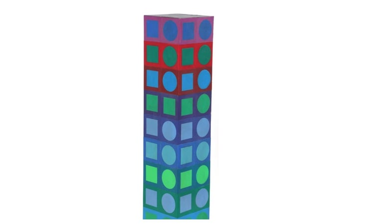 French Victor Vasarely Sculpture For Sale
