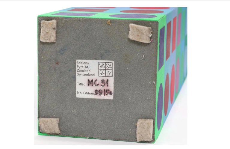Late 20th Century Victor Vasarely Sculpture For Sale
