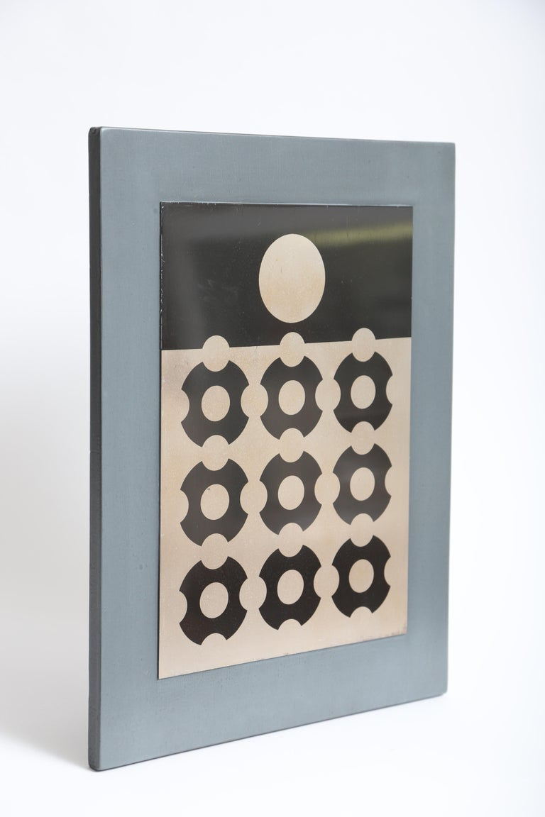 French Victor Vasarely Print on Aluminum For Sale