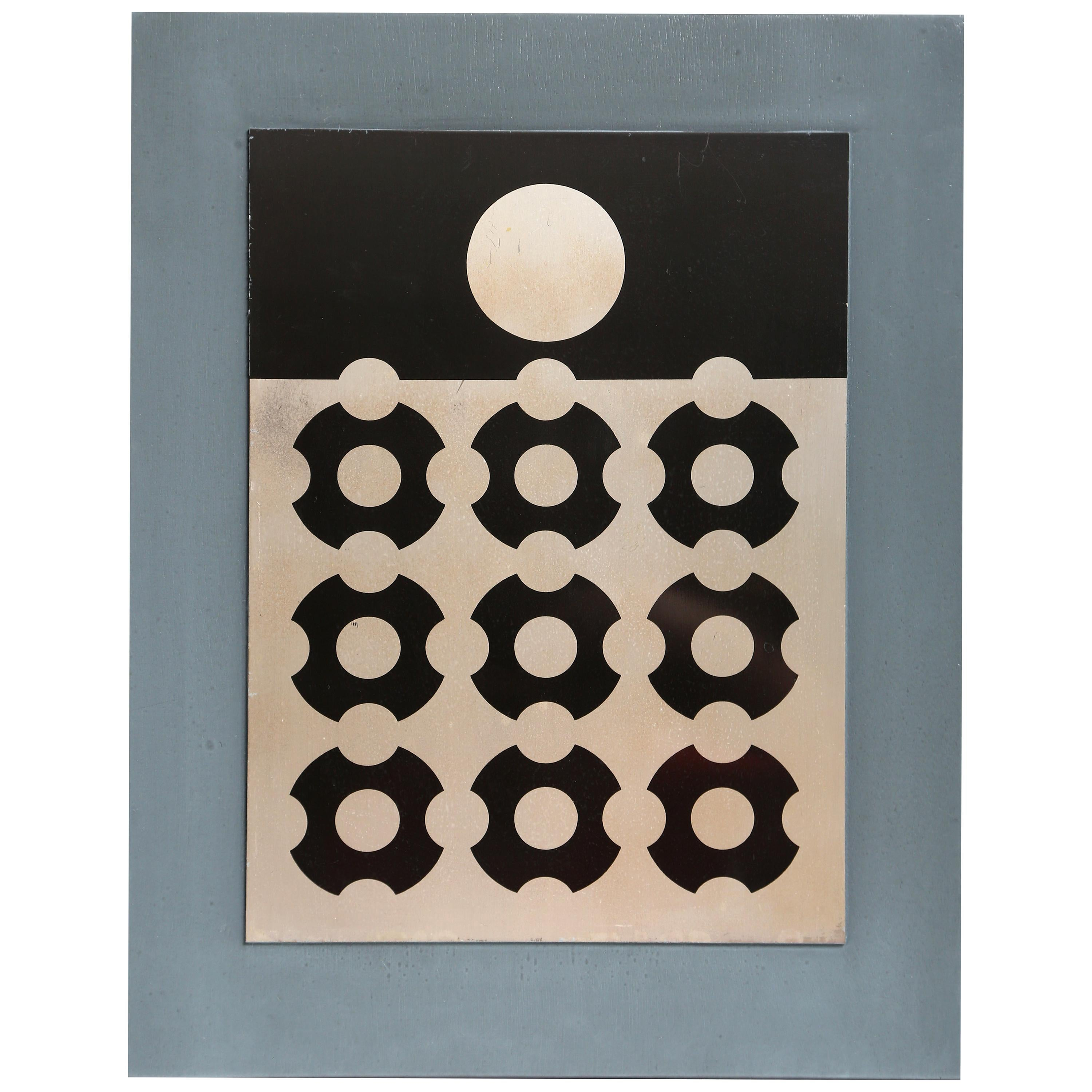 Victor Vasarely Print on Aluminum