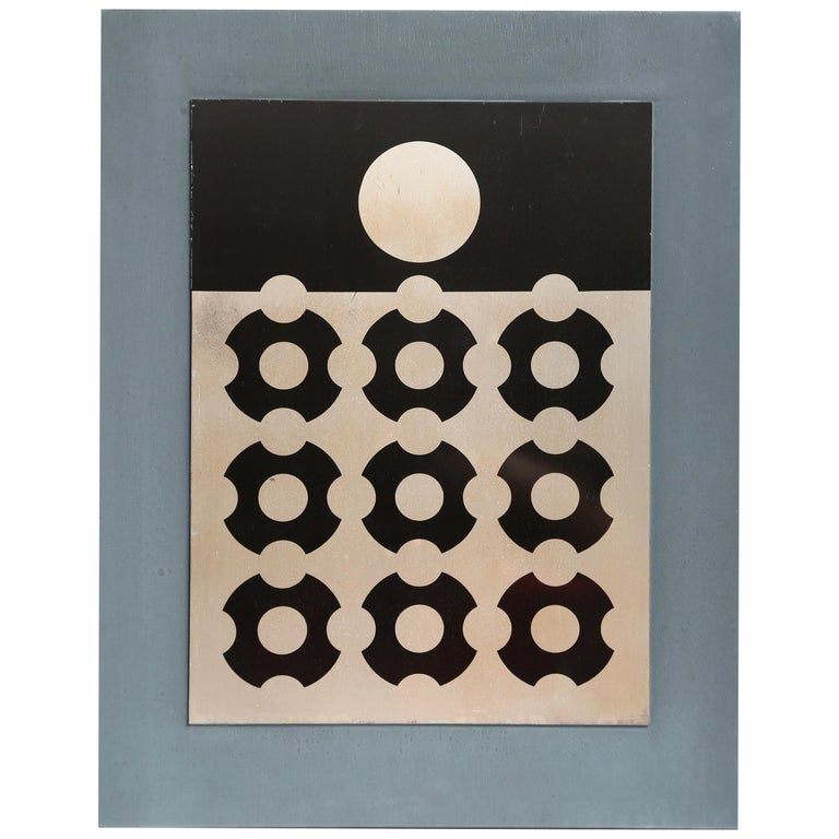 Victor Vasarely Print on Aluminum For Sale