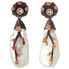 Baroque Chandelier Earrings