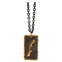 Victor Velyan Creation of Adam Patina Pendant Necklace in 24K Gold and Silver