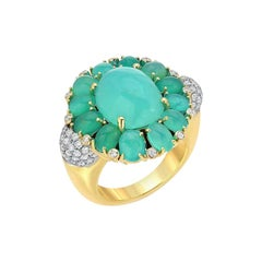 Victor Velyan Green Opal Statement Ring