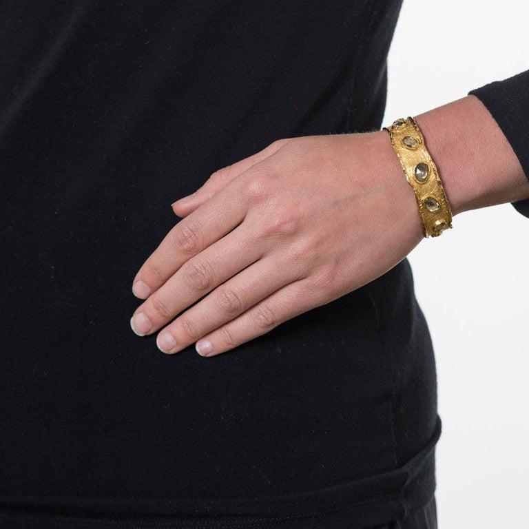 Victor Velyan Natural Zircon Cuff For Sale 1