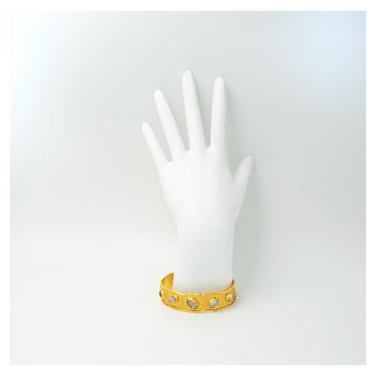 Victor Velyan Natural Zircon Cuff For Sale 2