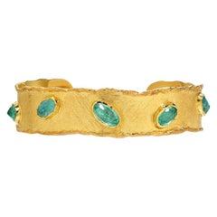Victor Velyan Paraiba Gold Cuff