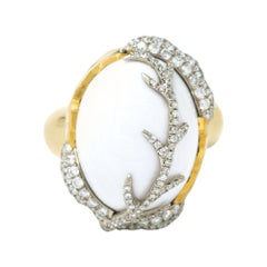Victor Velyan White Opal Ring