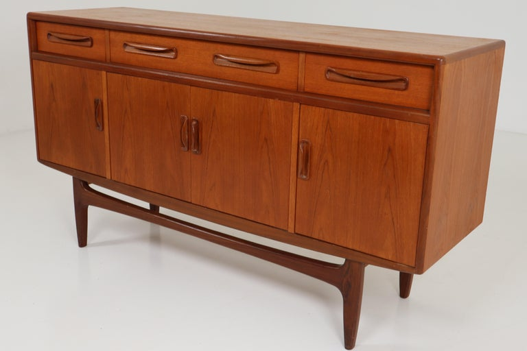 Mid-20th Century Victor Wilkins for G-Plan Teak and Afromosia Midcentury Credenza, England, 1960s For Sale