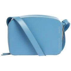 Victoria Beckham Baby Blue Leather Crossbody Bag