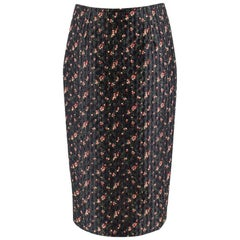 Victoria Beckham Black Floral Jacquard Pencil Skirt - Size US6