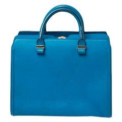 Victoria Beckham Blue Leather Victoria Tote