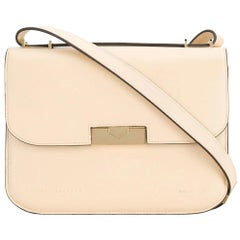 Victoria Beckham Brown Beige Calf Leather Medium Eva Italy