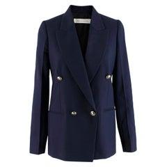 Victoria Beckham Double Breasted Navy Blazer - US size 4