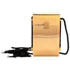Victoria Beckham Gold Box Minaudiere Cross Body Bag