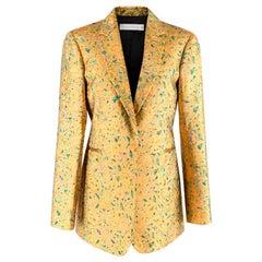 Victoria Beckham Gold Brocade Floral Blazer S UK 10