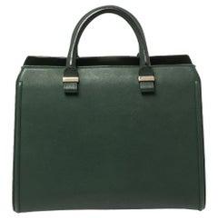 Victoria Beckham Green Leather Victoria Tote