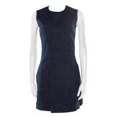Victoria Beckham Indigo Dark Wash Denim Sleeveless Mini Dress S