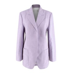 Victoria Beckham Lilac Cotton Long Blazer  - US Size 2