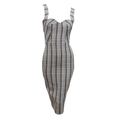 Victoria Beckham Multicolor Plaid Sheath Dress