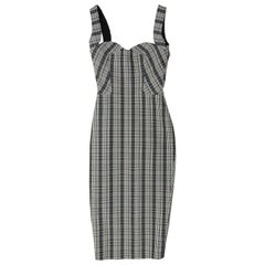 Victoria Beckham Multicolor Plaid Sheath Dress