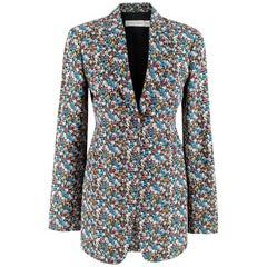 Victoria Beckham Tailored Micro Floral Print Blazer - Size US 4