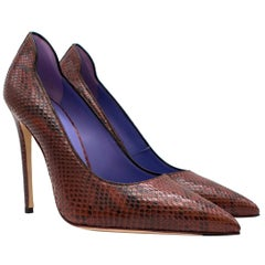 Victoria Beckham The Victoria Burgundy Python Pumps Size 37