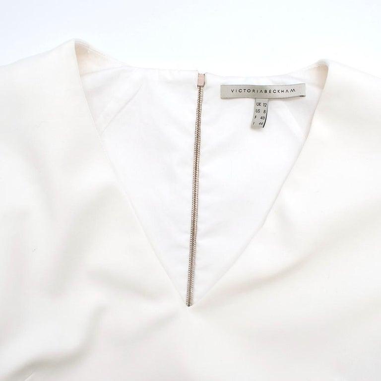 Victoria Beckham white belted midi dress UK 12 For Sale 2