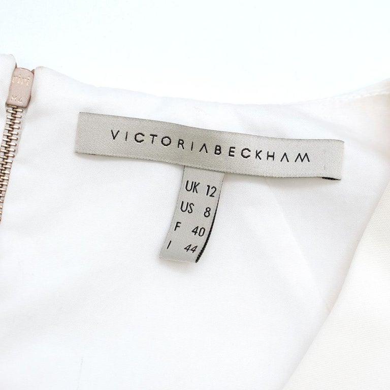 Victoria Beckham white belted midi dress UK 12 For Sale 3