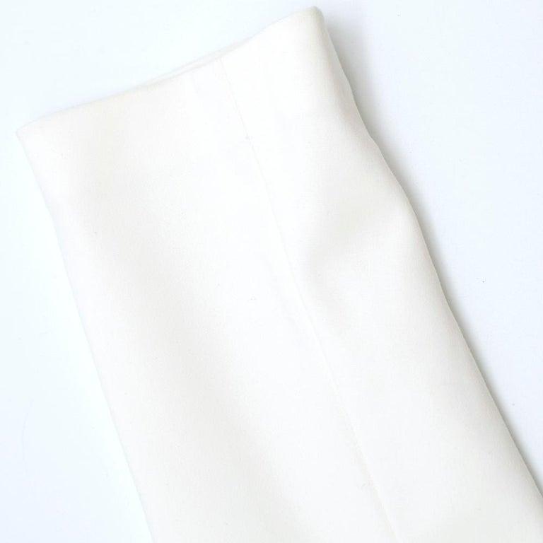 Victoria Beckham white belted midi dress UK 12 For Sale 4