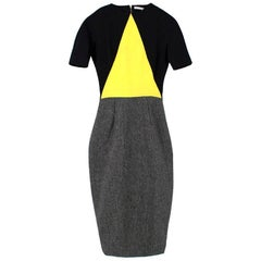 Victoria Beckham Wool & Silk Geometric Dress - Size US 4