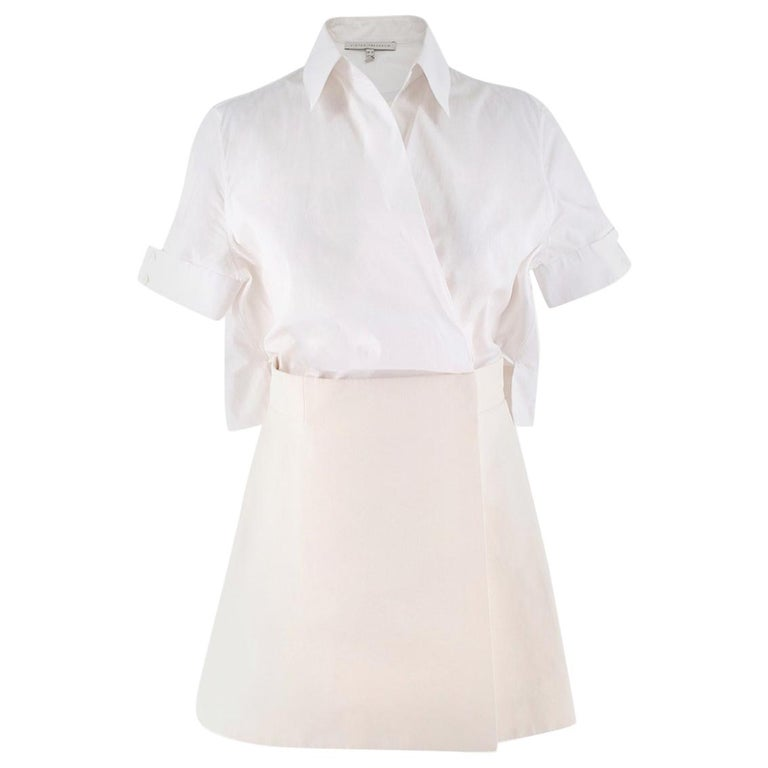 94b8482628 Victoria Beckham Wrap Style Shirt and Skirt Dress UK 10 For Sale at ...