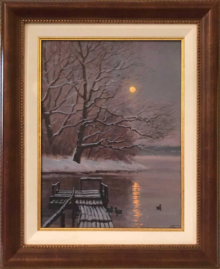 After the Snow Fall - Painting by Victoria Bondarenko