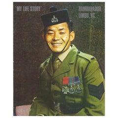 Victoria Cross Recipient Rambahadur Limbu Autograph on Paper Document