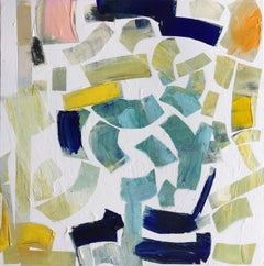 Victoria Harrison, Spring Leaves, Original Abstract Modern Painting