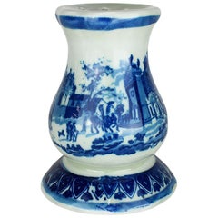 Victoria Ironstone Staffordshire Transfer ware Hatpin Holder in Flow Blue