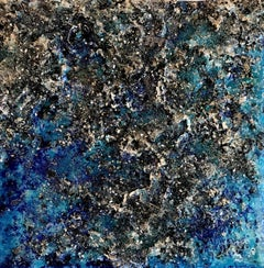 The Earth XXXIII-2 abstract textured mixed media landscape painting
