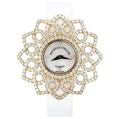 Victoria Snowdrop Luxury Diamond Watch for Women Rose Gold
