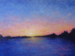 Monday Sunset, Painting, Oil on Canvas