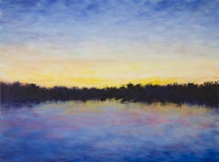 Sunset Beach Cancun, Painting, Oil on Canvas