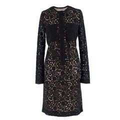 Victoria Victoria Beckham Black Lace Dress UK 10