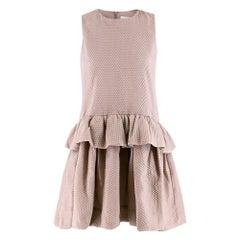 Victoria Victoria Beckham Cloqué peplum mini dress SIZE S