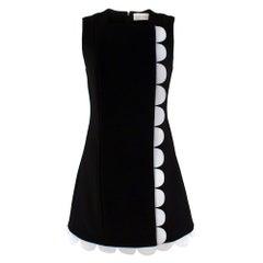 Victoria Victoria Beckham Wool Embellished Scallop Trim Dress SIZE UK 8
