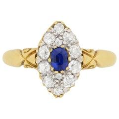 Victorian 0.30 Carat Sapphire and Diamond Ring, circa 1900s