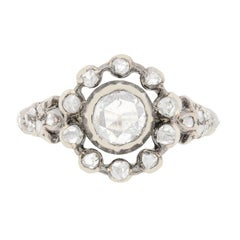 Victorian 0.30ct Rose Cut Diamond Cluster ring, c.1870s